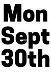 Mon Sept 30th